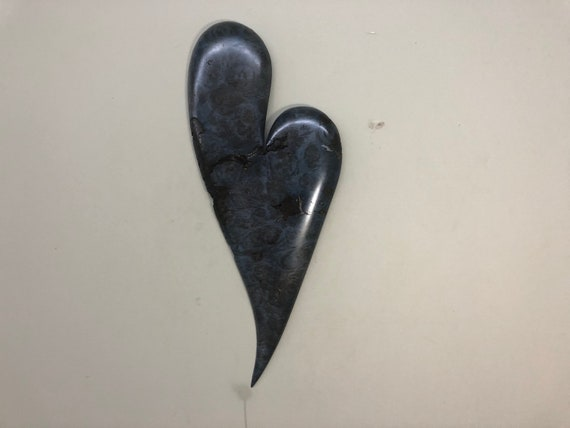 Blue romantic heart art 5th Anniversary gift present
