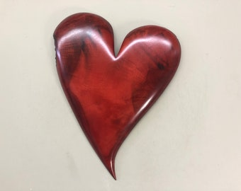 Red wall heart Wedding gift present idea
