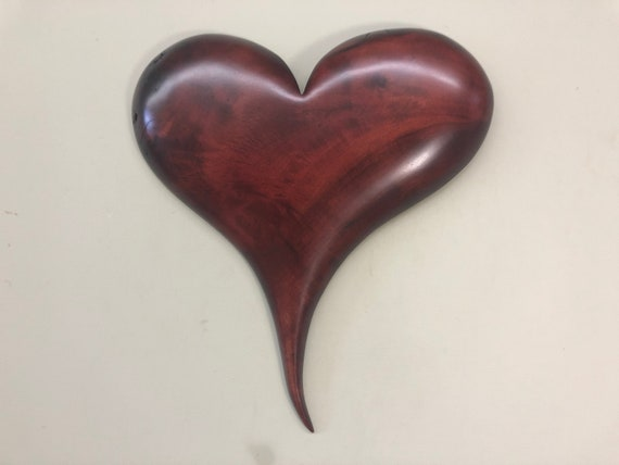 Wood wall heart red 50th Wedding Anniversary gift present