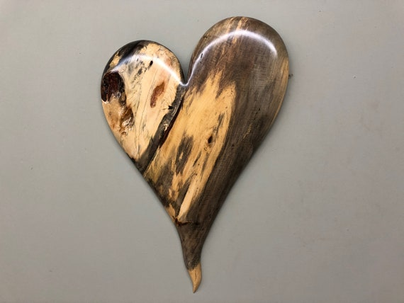 Heart art best gift ever 50th Anniversary gift present wood carving