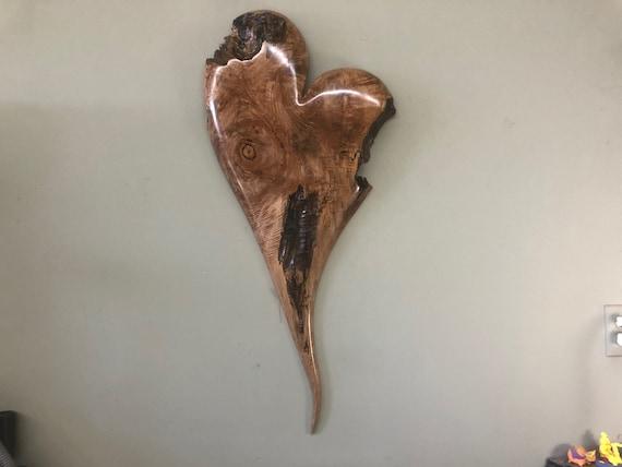 Wood wall heart art Wedding Gift Present