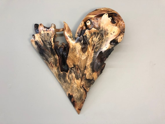 Wall heart best gift ever 50th Anniversary gift art wood carving