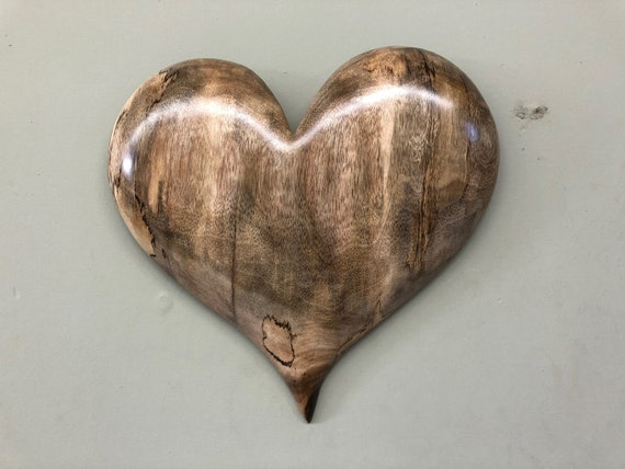 wood carving wall heart