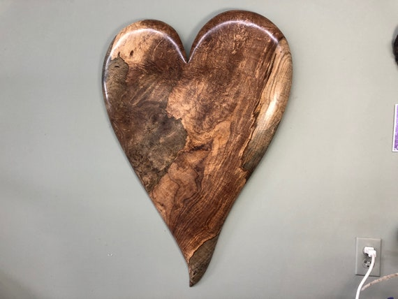 50th Wedding Anniversary wall heart art wood carving gift present