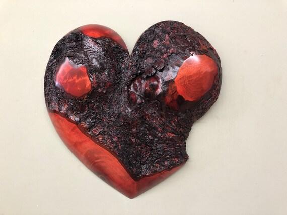 Wedding red heart wall art gift present idea