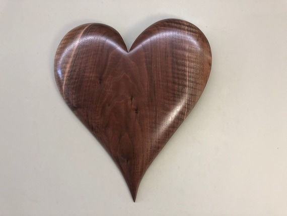 Heart art wooden wood personalized 5th Anniversary gift present