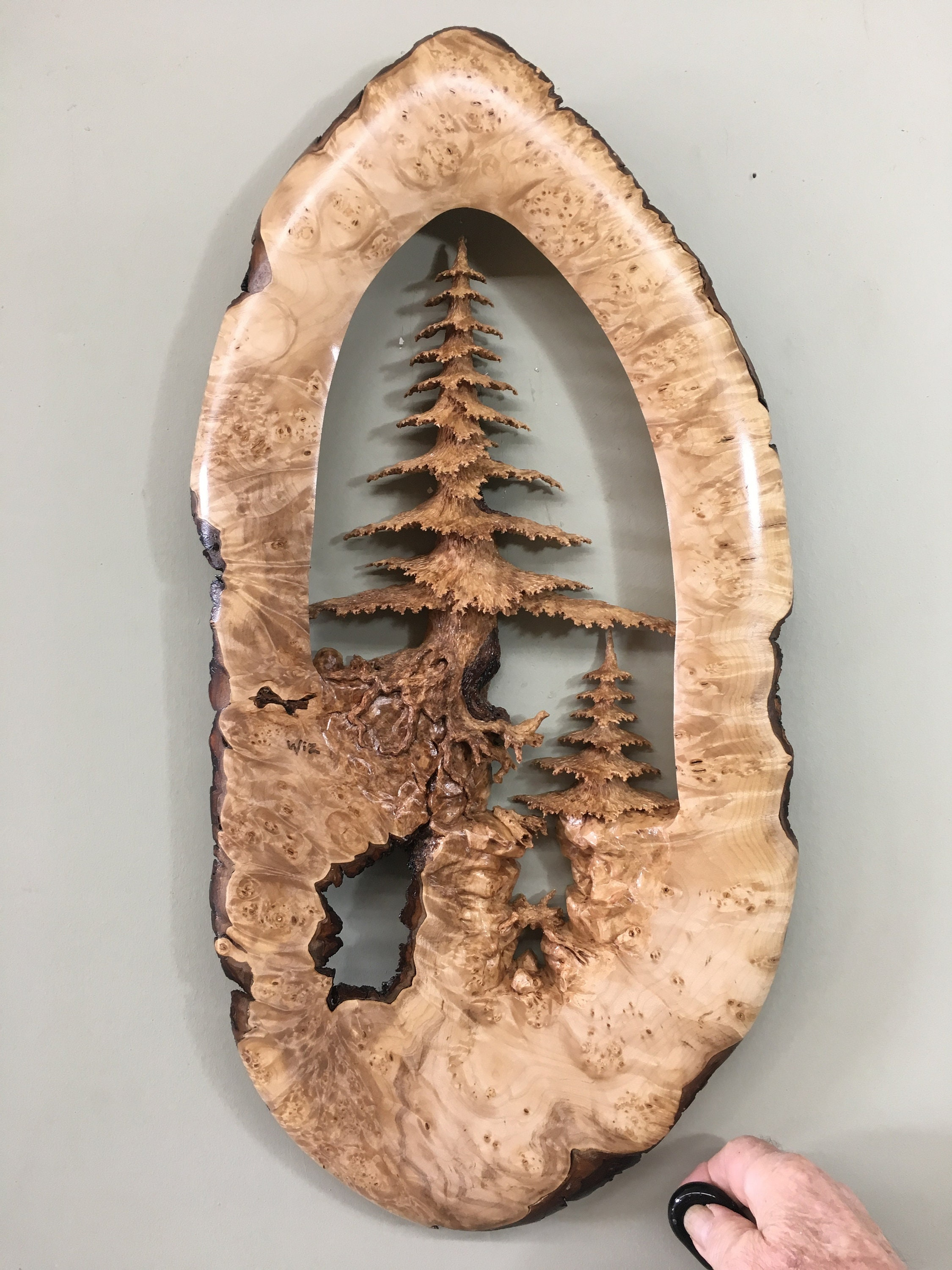 Tree wood carving wall sculpture special best gift ever present