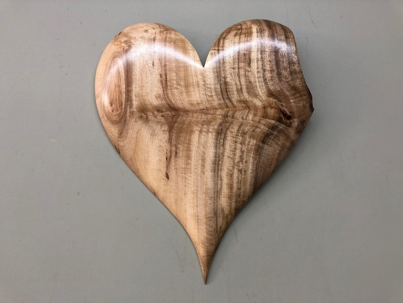 Myrtle wood heart wall hanging 5th Wedding Anniversary gift present