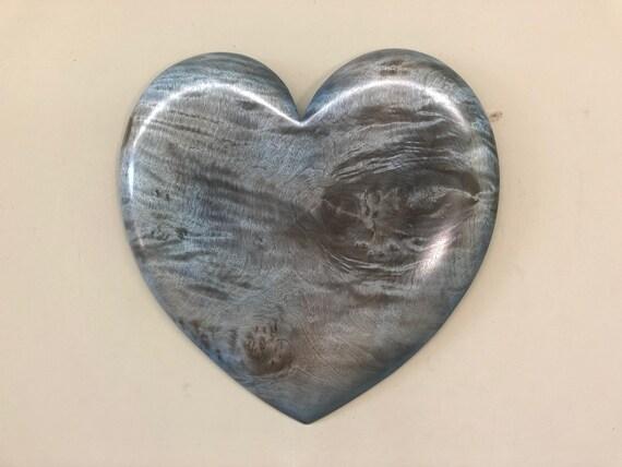 Blue Heart art 5th Wedding Anniversary gift present