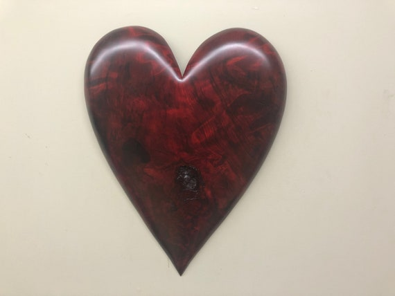 Christmas gift red wall heart art Christmas present