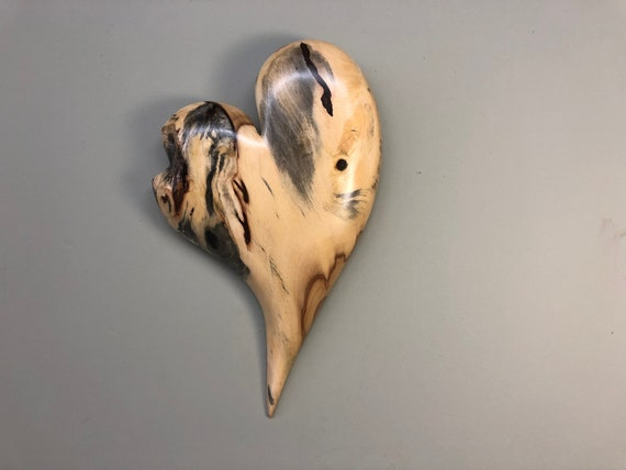 Wall heart art 50th Wedding Anniversary gift present wood carving