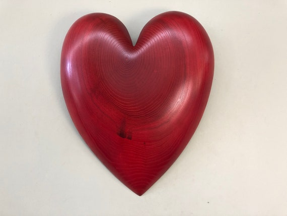 Red 50th Anniversary wood wall heart Personalized gift present