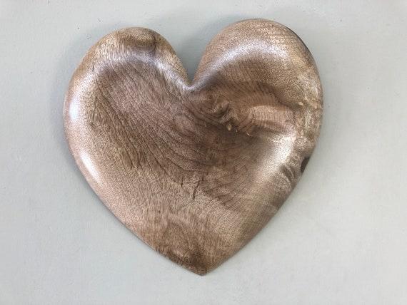 Myrtle wood heart 5th Wedding Anniversary gift present by Gary Burns