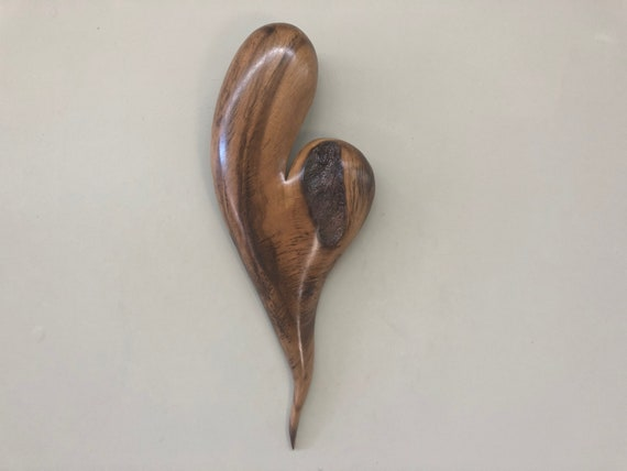 Heart Myrtle wood wooden hearts 5th Anniversary gift present
