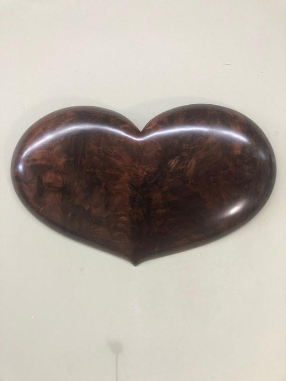 Heart art wood wall Wedding Anniversary present gift
