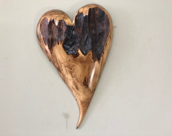 Myrtle wood wall heart 50th Anniversary gift present