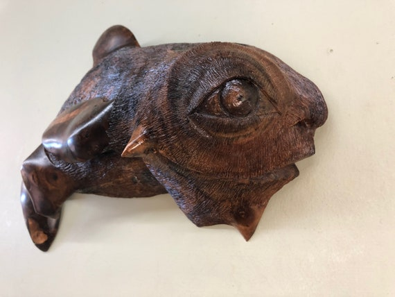 Whimsical Fish wood carving fishing sculpture gift for your Fisherman