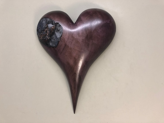 Wedding gift present personalized wooden hearts wood carving