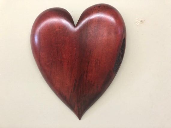 Best gift ever personalized 5th wood Wedding Anniversary present wall heart