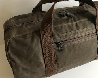 Waxed Canvas Duffle Bag, Vegan Duffel Bag, Weekend Bag, Carry-on Duffle Bag, Gym Bag