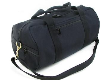 Canvas Duffle Bag, Vegan Travel Bag, Small Travel Bag, X Body Duffle