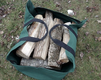 Firewood Carrier Canvas Sides, Large Wood Carrier, Firewood Bag, Firewood Tote, Canvas Wood Tote, Canvas Firewood Tote, Firewood Bag Canvas