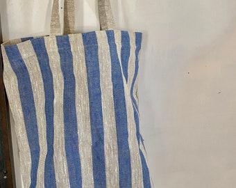 Linen Tote Bag, Striped