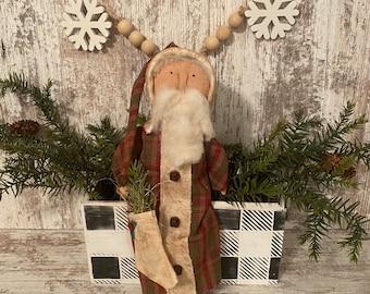 Primitive Santa ~ Prim Santa Doll ~ Christmas Decor ~ Primitive Christmas Decor ~ Grungy Santa
