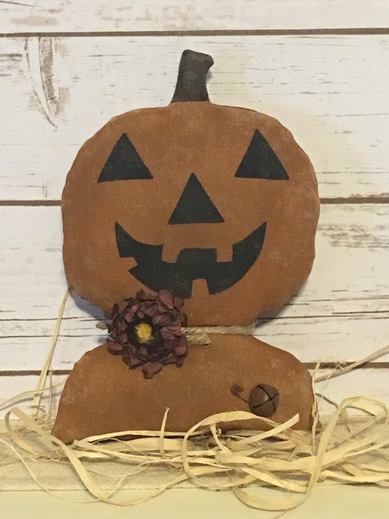 PumpkinPrimitive Pumpkin DollPumpkin HeadPumpkin Stump image 0