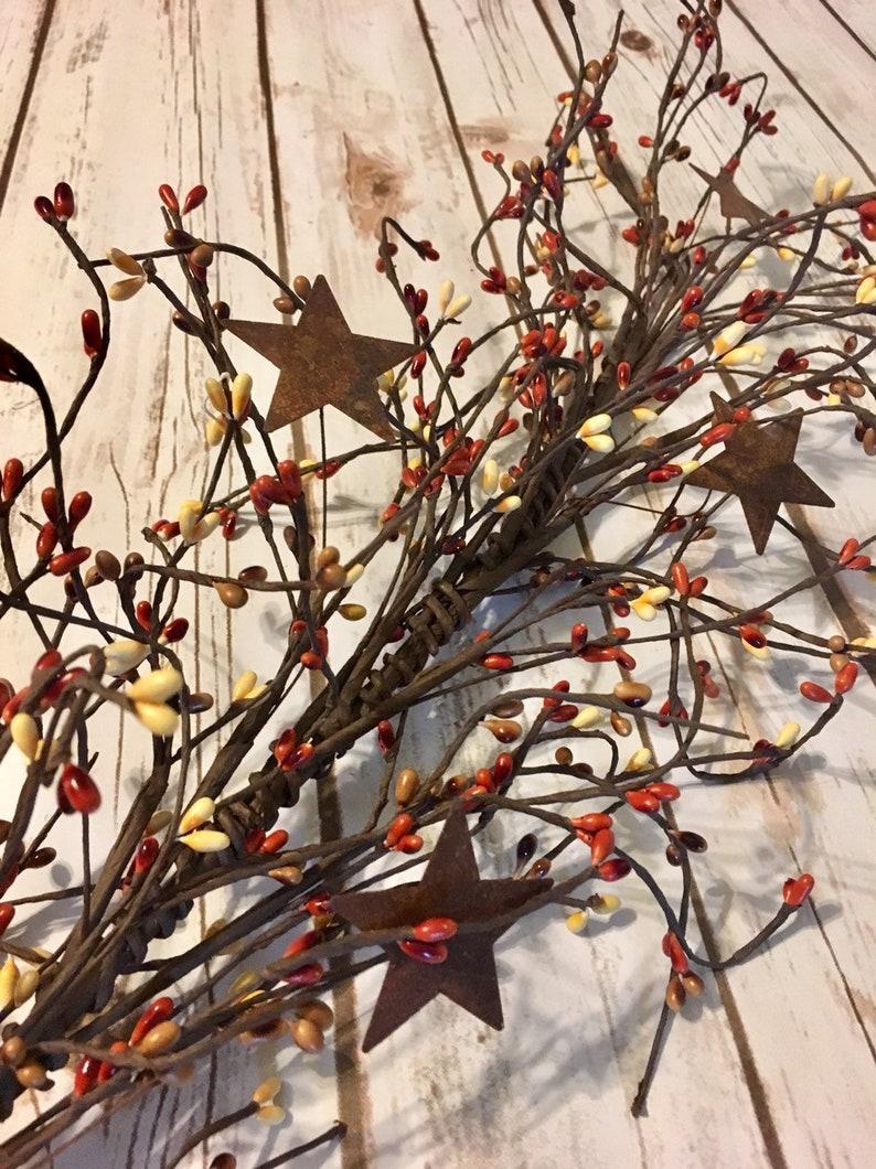 Pip Berry GarlandPrimitive Fall DecorPumpkin Spice Pip Berry image 0
