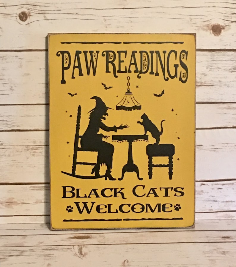 Halloween Sign Halloween Decorations Halloween Witch Sign image 0