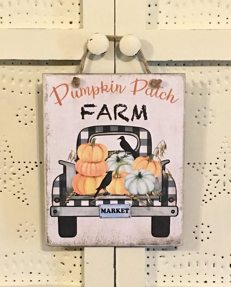 Pumpkin Patch Farm SignFall DecorationFall SignPumpkin image 0