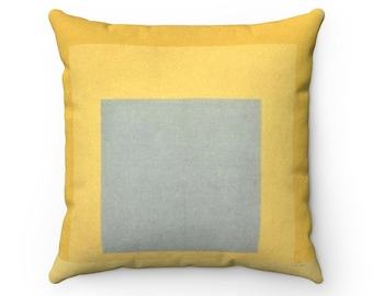 """Yellow Grey Josef Albers Homage to the Square With Rays 