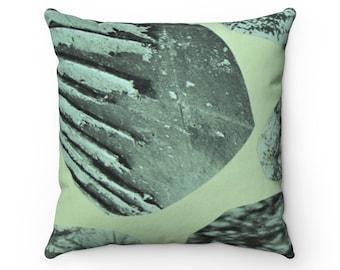 "Mint Sage Green Black Pillow | New Home Housewarming Living Modern Eclectic Bohemian Textured Retro | Square Throw Pillow 14"" 16"" 18"" 20"""