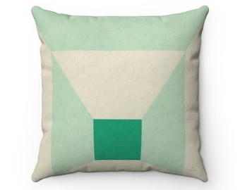 """Josef Albers Mitered Square Miami Mint Green 1976 