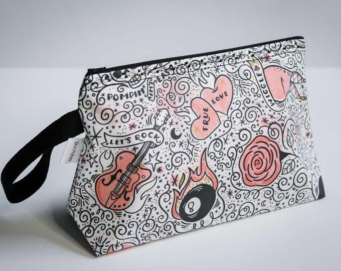 Large project bag - Rad Rockabilly tats