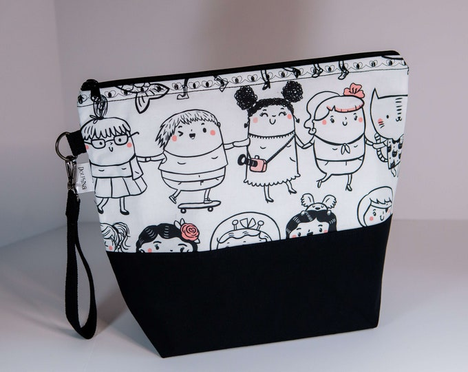 Extra large project bag - Girls will be girls
