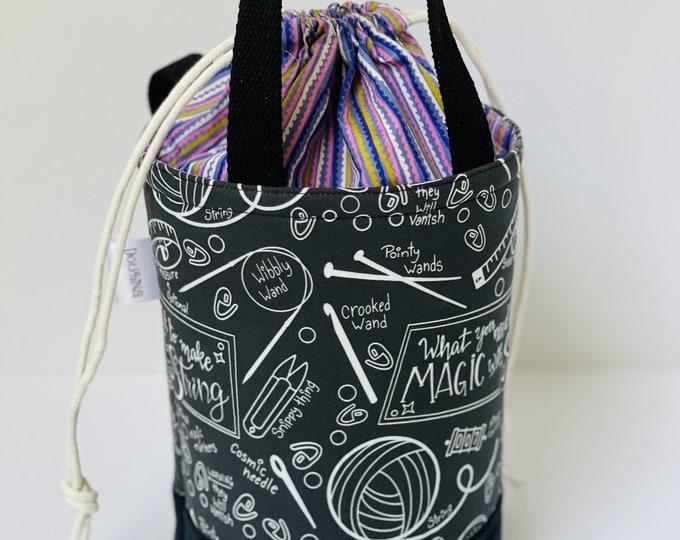 Small Bucket bag - Dark Magic With String