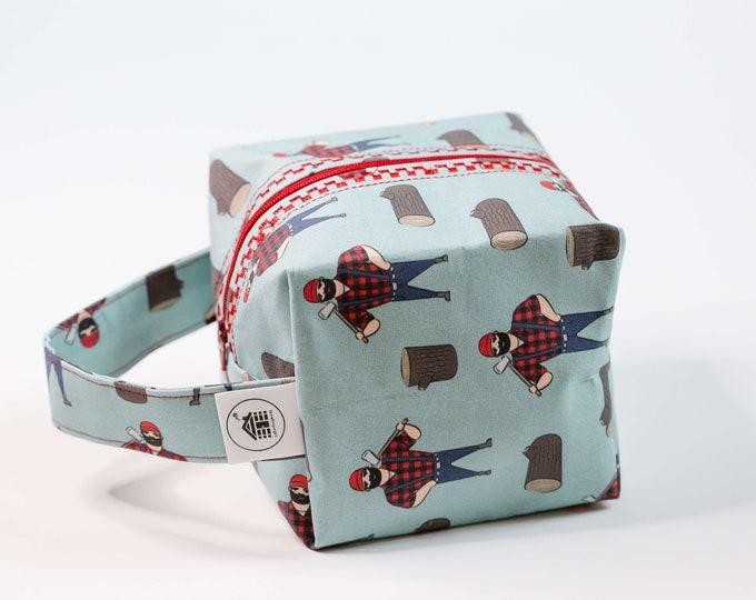 Cabinboyknits&Dolphina- Box bag - Lumberjack