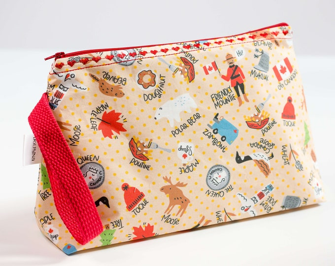 Cabinboyknits&Dolphina- Large project bag - Canadian Things