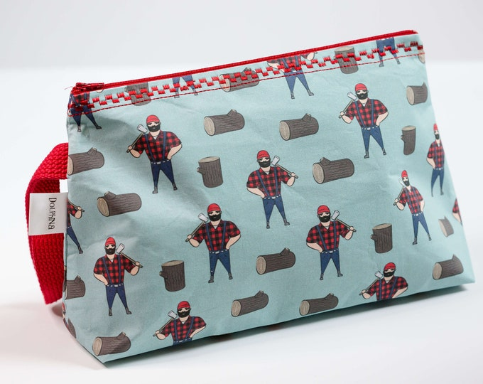 Cabinboyknits&Dolphina- Large project bag collection - Lumberjack