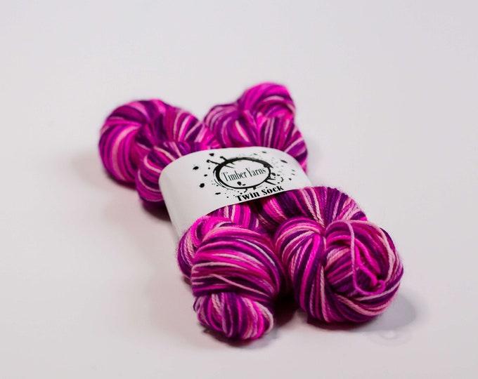 Self striping yarn - Pinks