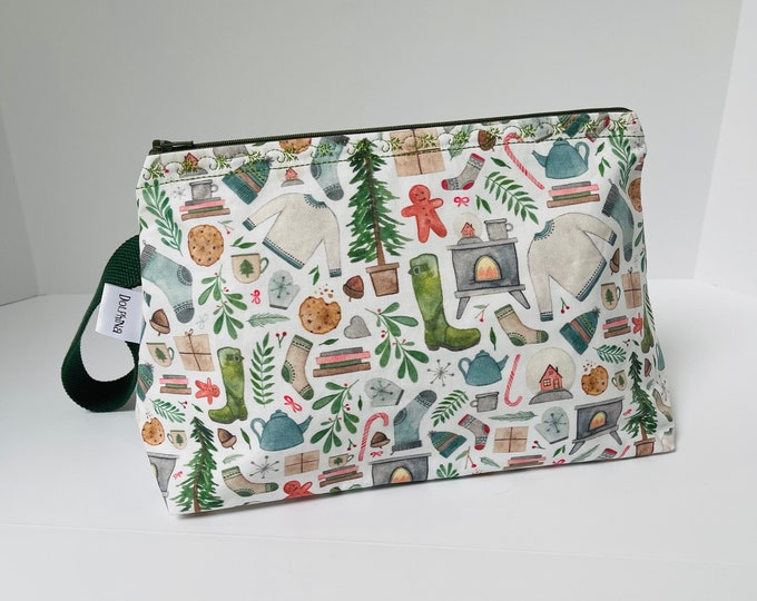 Large project bag - Cozy Christmas!