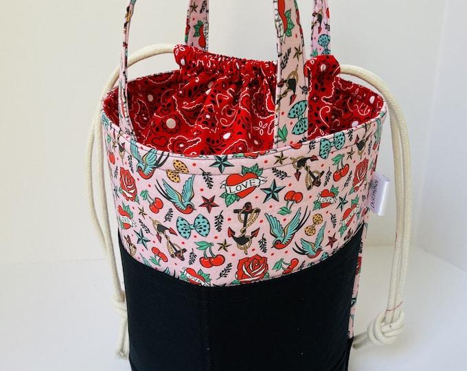 Large bucket Bag - Rockabilly Love