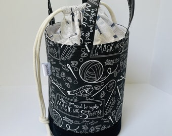 Large bucket Bag - Dark Magic With String