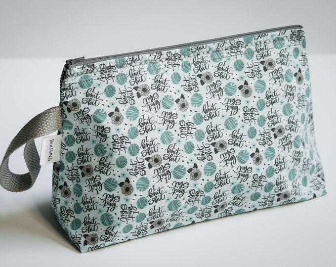 Large project bag -  I Knit sh!@#%