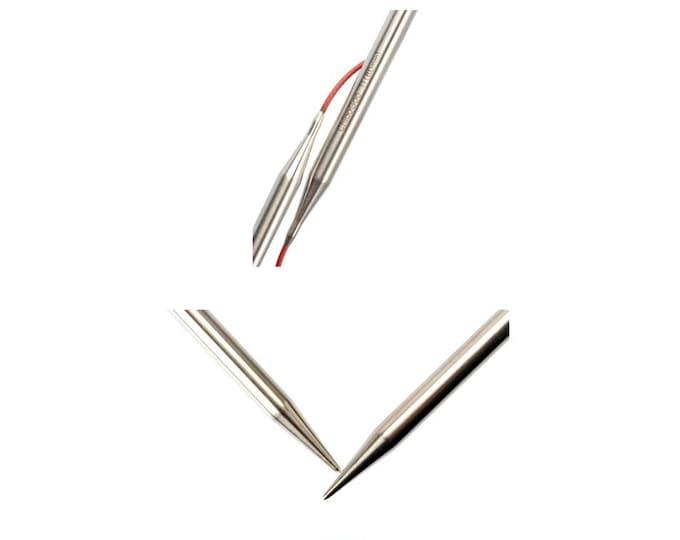"ChiaoGoo Premium Stainless Steel - KNIT RED - circular knitting needles - 12"" (30cm)"