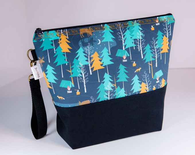 Extra large project bag - Cabinboyknits&Dolphina - Moonlight