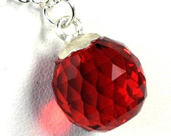 Valentine Red Gemstone Pendant Woman Girls Gift Red Topaz Gemstone Necklace Fancy Cut Biolette Gemstone Pendant Womans Gift Birthday Present