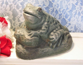 vintage massarelli frog yard art makers of fine stone garden accents outdoor garden decor